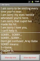 Screenshot of I am Sorry Messages