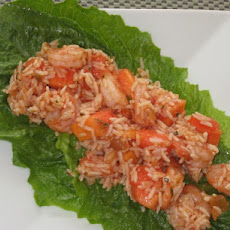 Fire and Ice Salad (Papaya Shrimp Salad)