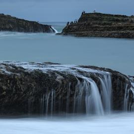 fluid by Paul Judy - Landscapes Waterscapes ( water, fog, california, beach, santa cruz, rocks )