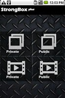 Screenshot of StrongBox plus Media Vault