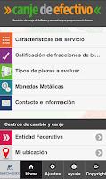 Screenshot of Canje de efectivo