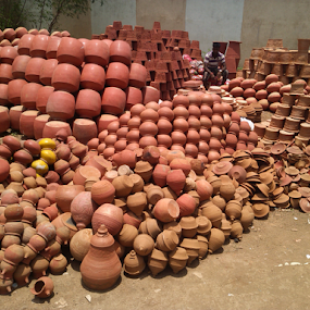 Sale of Earthen Pot by Shishir Desai - Artistic Objects Still Life ( surat, india, earthen pot, Urban, City, Lifestyle )