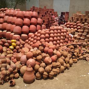 Sale of Earthen Pot by Shishir Desai - Artistic Objects Still Life ( surat, india, earthen pot, Urban, City, Lifestyle )