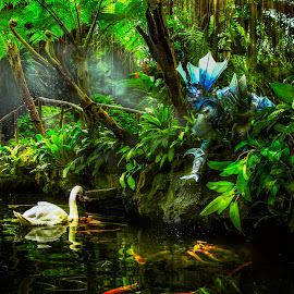 FANTASIA by Eric estampador  Cabales - People Body Art/Tattoos ( water, body, nude, nature, body painting, swan, lake, koi, philippines, pond, man )