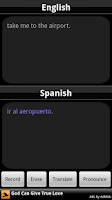Screenshot of BabelFish Voice: Spanish