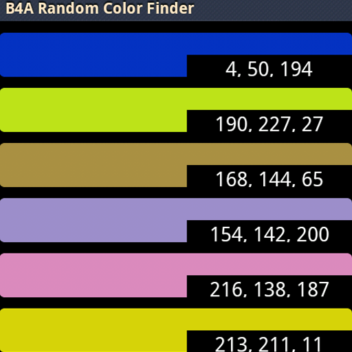 B4A Random Color Finder LOGO-APP點子