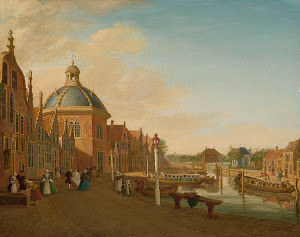 RIJKS: Paulus Constantijn la Fargue: The Docking Basin in the Barge Canal in Leidschendam 1756