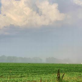 Approaching Rain by Owen Rockett - Landscapes Weather ( the rain is coming, rain approaching, approaching rain, here comes the rain, run! )