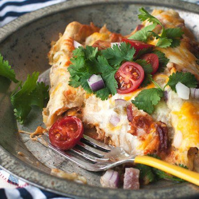 Chicken Bacon Ranch Enchiladas