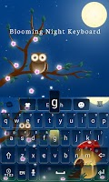Screenshot of Blooming Night Keyboard Theme