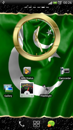 Pakistan flag clocks