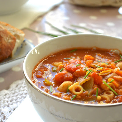 Hearty Vegan Minestrone Soup