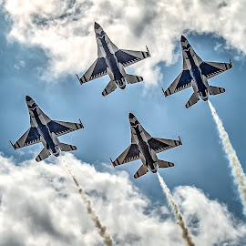 Thunderbird Formation by Ron Meyers - Transportation Airplanes