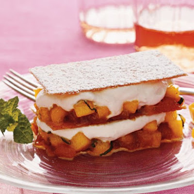Mango Napoleons with Caramel and Cream