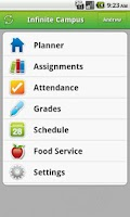 Screenshot of Infinite Campus Mobile Portal