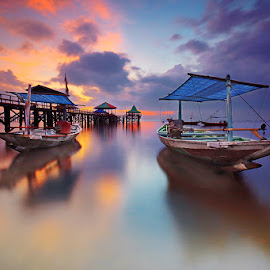 Twins by Zainal CZmania - Transportation Boats ( ship, sunrise, beach, boat )