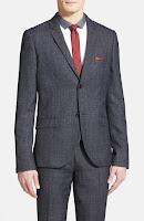 Topman Skinny Fit Grey Sport Coat