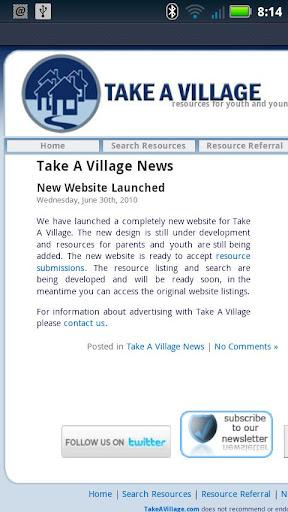 【免費社交App】Take a Village App-APP點子