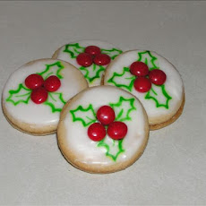 New Zealand Holly Cookies