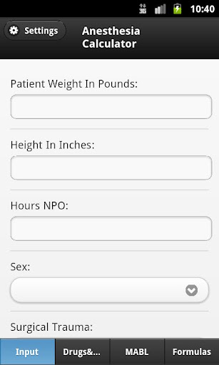 Anesthesia Calculator