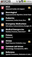 Screenshot of Critical Care ACLS Guide