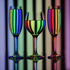 Hues of spectrum # % by Rakesh Syal - Artistic Objects Glass