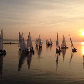 Tranquil Waters by Sean Astbury - Instagram & Mobile iPhone ( calm, water, tranquil, iphoneography, sky, sailing, sunset, summer, sea, sails, iphone, sun )