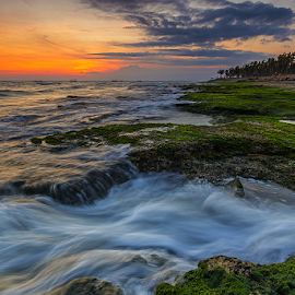 big flow by Budi Astawa - Landscapes Waterscapes ( bali, cupel, sunset, wave, jembrana, beach, negara )
