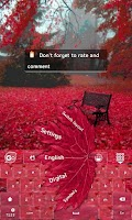 Screenshot of Bloody autumn GO Keyboard