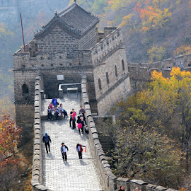 Great Wall of China by Leong Jeam Wong - Landscapes Travel ( mountain, wonder, stone, great wall, wonder of the world, travel, beijing, china,  )