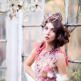 Vintage Princess  by Emily Teague - People Fashion ( model, vintage, la, high fashion, pink, avant garde, design )