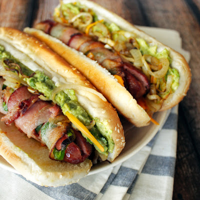 Bacon-Wrapped Jalapeño Hot Dogs