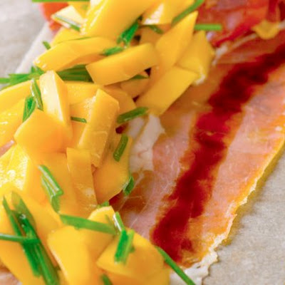 Prosciutto With Peaches And Balsamic Vinegar