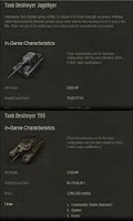 Screenshot of Tank talents/info for WoT Game