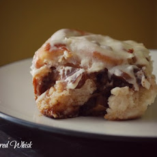 Caramelized Apple Walnut Cinnamon Rolls with Brown Butter Cream Cheese Frosting