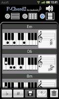 Screenshot of PChord2  (Piano Chord Finder)