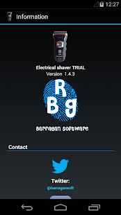 Electrical shaver - screenshot
