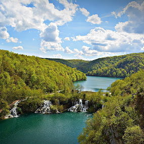 Zeleno -plavo  by Jelena Puškarić - Landscapes Waterscapes ( water, colors, columns, landscape, renewal, green, trees, forests, nature, natural, scenic, relaxing, meditation, the mood factory, mood, emotions, jade, revive, inspirational, earthly, relax, tranquil, tranquility,  )