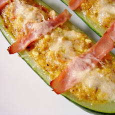 Ham Stuffed Squash or Zucchini Boats