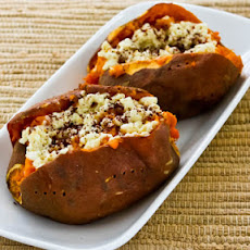 Recipe for Twice-Baked Sweet Potatoes with Feta and Sumac