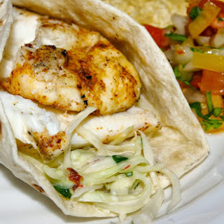 Halibut Wraps with Chipotle Lime Slaw