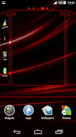 Screenshot of Theme eXPERIAnce Rays Red