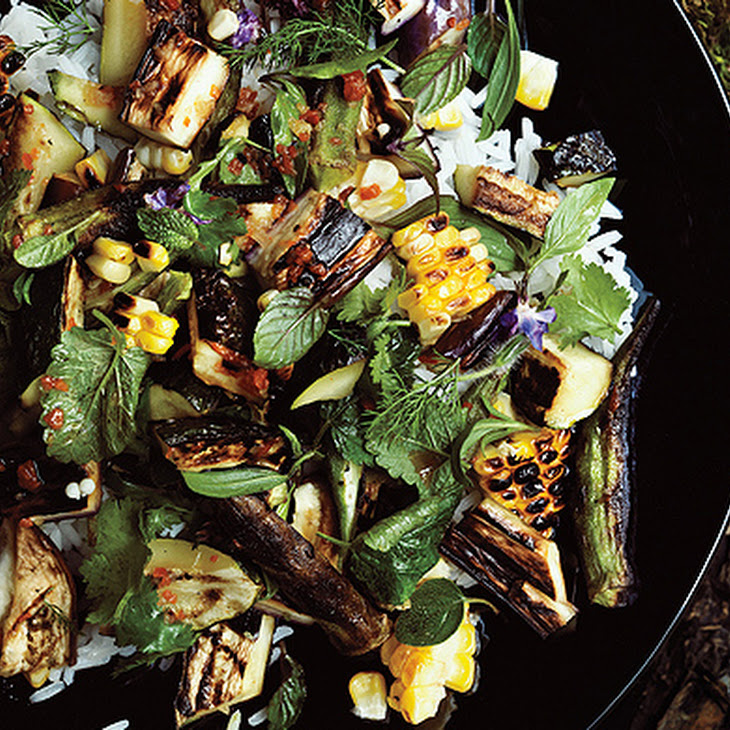 Grilled Vegetable and Rice Salad with Fish-Sauce Vinaigrette Recipe ...