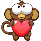 Bubble Monkey Valentine's Day! icon