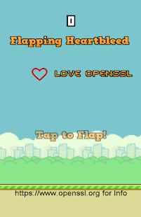Flapping Heartbleed - screenshot