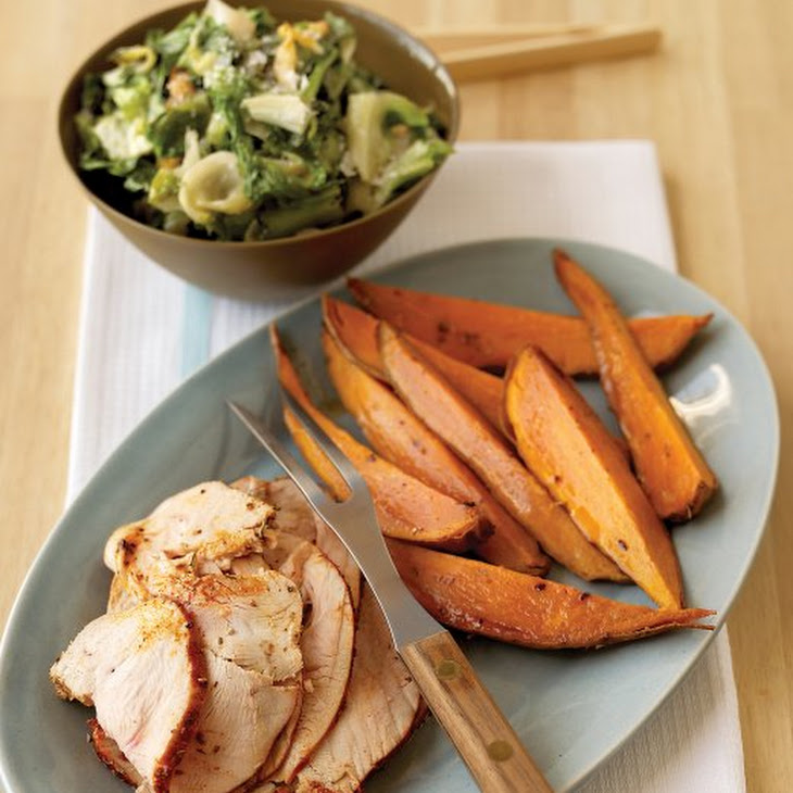 Spice-Rubbed Turkey Breast with Sweet Potatoes Recipe | Yummly