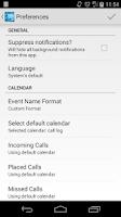 Screenshot of Call Log Calendar