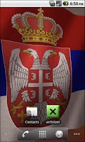 Screenshot of 3D Serbian Flag