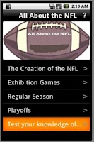 Screenshot of All About the NFL!