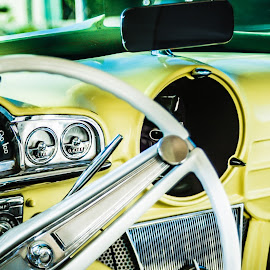 Classic Dashboard by Noel Colina - Transportation Automobiles ( steering wheel, dashboard, classic,  )